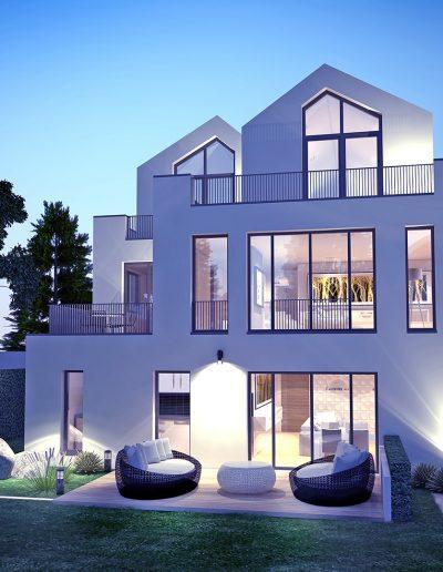 Bauvorhaben Siepen - Perspektive Gartenansicht