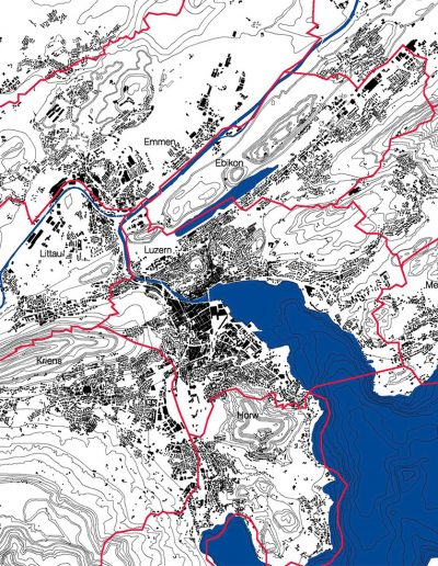 Luzern - Lageplan