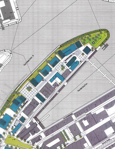 Düsseldorf altes Hafenrevier Lageplan